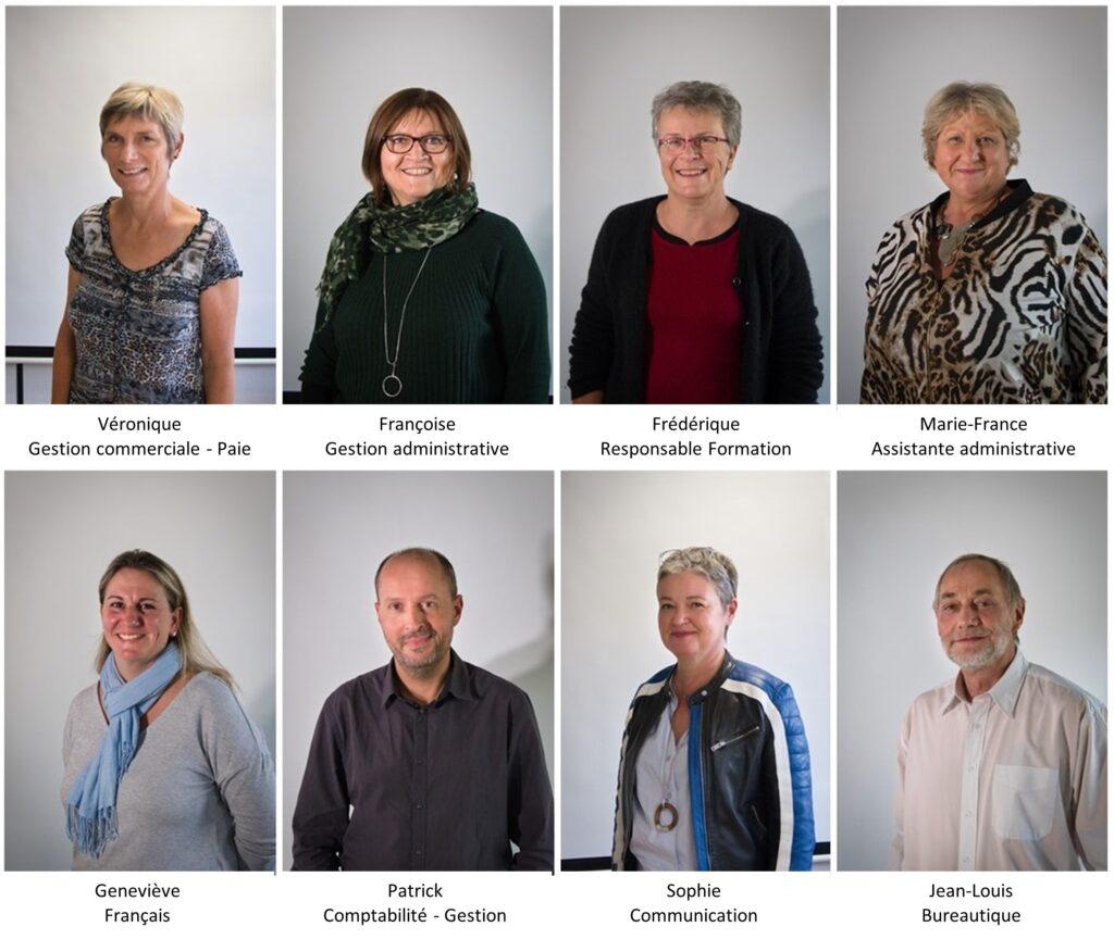 Les 8 personnes faisant partie de l'équipe Présence et action