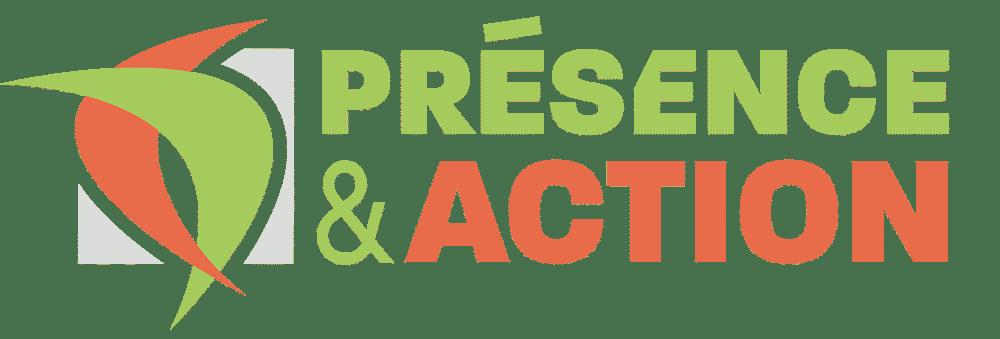 Le logo de Présence et Action